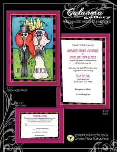 Day of the Dead Skeleton Calavera Wedding by GreenHeartGallery, $50.00