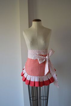 The Pleated Apron in Red