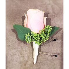 Pink rose boutonnière Pink Boutonniere, Pastel Pink, Wedding, Valentines Day Weddings, Weddings, Marriage, Mariage