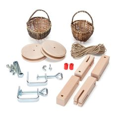 This wooden basket cable car is a great science kit for teaching your kids about simple machines in an entertaining and industrious way. Legend Of Zelda Toys, Tinker Toys, Wooden Basket, Cleaning Toys, Dollhouse Toys, Natural Toys, Simple Machines, Art Case, Bath Toys