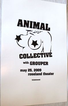 Animal Collective Poster Concert $9.84
