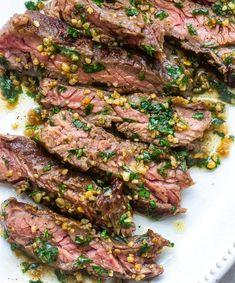 Garlic Butter Brazilian Steak Sizzle Steak Recipes, Thin Steak Recipes, Skirt Steak Recipes, Meat Recipes, Cooking Recipes, Recipies, Minute Steak Recipes, Steak Dinner Recipes, Steak Dinners