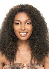 Fluffy Long Curly Human Hair African American Wig