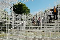 Sou Fujimoto's Serpentine Pavilion 2013. Wish I had been in the country to visit. Reminds me of those fluorescent connector straws I played with when I was young(er).