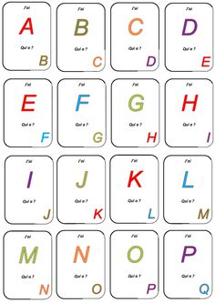 "game ""I have . French Alphabet, Classroom Board, Core French, Kindergarten Lesson Plans, French Language Learning, Teaching French, Math Worksheets, Phonics, Camille"