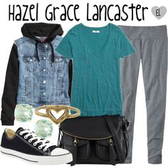 Hazel Grace Lancaster -- The Fault in Our Stars by evil-laugh on Polyvore featuring Madewell, H&M, Converse, ALDO, Kate Spade, Love Nail Tree, thefaultinourstars, tfios, HazelGrace and hazelgracelancaster