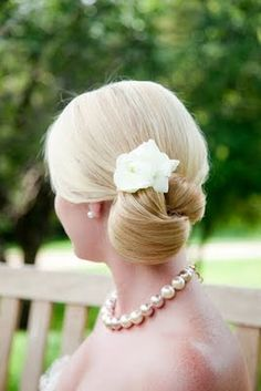 blonde updo, side bun, low updo