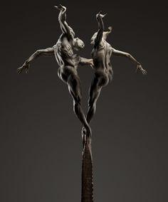 By Richard MacDonald   The Ritual ''48x29.5x27'' Bronze