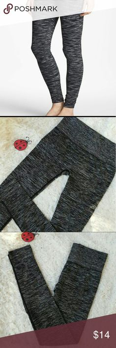 Heather black yoga workout leggings Awesome NEW black heather workout active leggings in a size small, with four way stretch, wicking, and flat seems for extra comfort.  Perfect for the gym, yoga, running , weight lifting or every day wear! sizes available S, M. leggings run on the smaller side please order a size up. Pants Leggings