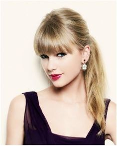 Taylor Swift Straight Hair With Bangs . with Blunt Bangs: Taylor Swift Hair Styles Popular Haircuts Haircuts Straight Hair, Straight Ponytail, Straight Bangs, Trendy Haircuts, Haircuts With Bangs, Popular Haircuts, Bangs With Ponytail, Straight Fringes, Hair Bangs