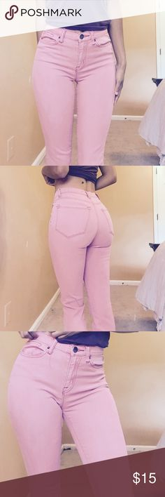 High /mid rise pink bdg pants ! High waisted and fit so good ! BDG Pants Skinny