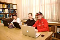 Studying in the library - Chestnut Hill College