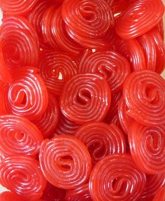 Haribo Strawberry wheels are always a favorite! Pantone Red, Red Licorice, Painting The Roses Red, Candy Lips, Penny Candy, I See Red, Simply Red, Red Books, Chocolate Factory