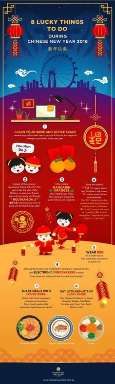 Lucky things to do during Chinese New Year. #ChineseNewYear #CNY
