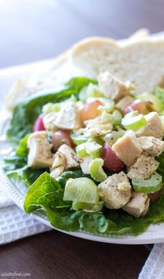 Light and Healthy Chicken Salad Recipe - A Latte Food Easy Healthy 30 Minute Meals, Easy Meals, Healthy Meals, Diet Meals, Easy Salads, Can Chicken Recipes, Healthy Chicken, Salad Chicken, Meat Salad