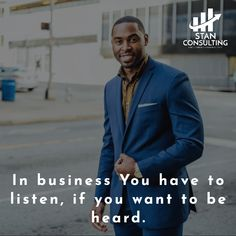 You have to listen, what your clients have to say.   If you talk about their problems, they will listen and buy from you.  #businessmindset #businessstrategy #entrepreneurspirit #entrepreneurtips #entrepreneurmind #businessmotivation #entrepreneurquote #entrepreneurstyle #startabusiness #entreprenuerlife #entrepeneurlife #entrepreneurn #entrepreneursuccess #enterpreneurlife #womenentrepreneurship #entrepreneurshiplifestyle #entrepreneurships #entrepreneurbooks #stanconsulting