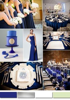 royal blue and white wedding color combo ideas 2015