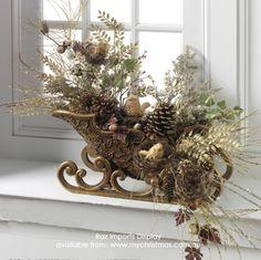 Raz Imports decorated sleighs.  www.mychristmas.com.au