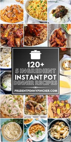 120 Best 5 Ingredient Instant Pot Recipes Looking for a quick and easy dinner for a busy weeknight? Try one of these 5 ingredient Instant Pot recipes which include main entrees, sides and desserts. Best Instant Pot Recipe, Instant Pot Dinner Recipes, Recipes Dinner, Instant Recipes, Instant Pot Meals, Wallpaper Food, Instant Pot Pressure Cooker, Pressure Cooking, Instant Cooker