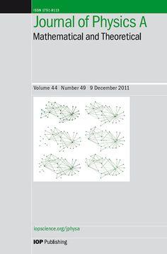 Публикации в журналах, наукометрической базы Scopus  Journal of Physics A: Mathematical and Theoretical #Mathematical #Theoretical #Journals #публикация, #журнал, #публикациявжурнале #globalpublication #publication #статья