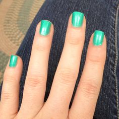 """*/My nails in China Glaze's """"Turned Up Turquoise."""""""
