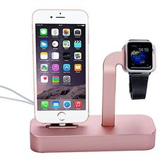 Iphone/iwatch Charger Stand, 2 in 1 Apple Charging Dock Cradle, Lecxci[rose Gold Charging Dock]iwatch and Iphone Charging Stand for Iwatch 38mm/42mm, Iphone 5/5s/6/6 Plus/6s/6s Plus(rose Gold), http://www.amazon.com/dp/B016U2XGWK/ref=cm_sw_r_pi_awdm_P-CIwb0RMBJ4E
