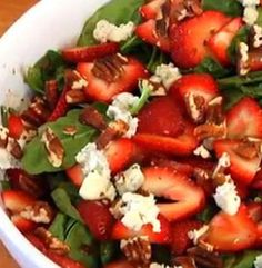 Strawberry Spinach Salad | Simple Dish | Quick, Easy,  Healthy Recipes for Dinner