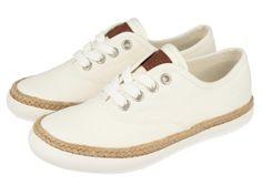 Mima / Zapatillas deportivas de niña blancas con detalle de yute sobre la suela. Corte y forro en textil. Sneakers clásicas de niña en blanco con un toque original que marca la diferencia.