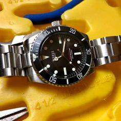 Tisell Vintage Sub #tisell #tisellwatch #tisellwatches #tisellsub #tisellmarinediver #watch #watchuseek #wus #divewatch #submariner #vintagesubmariner #vintage #miyota #miyota9015