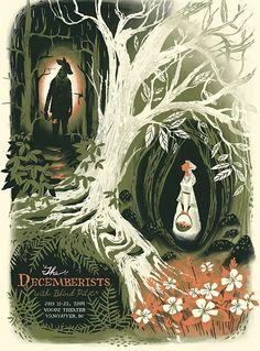 Decemberists show poster, Chris Turnham