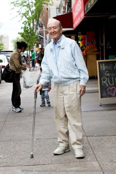 I found this man on 7th Avenue in Park Slope. He was leaning heavily on his cane, looking down, wearing a grimaced face. I felt bad for him, so I smiled and waved when I walked past. His face changed completely. He lit up, smiled wide, and gave me a cheery greeting. There was nothing forced about it. He seemed like a man who went through life looking for the smallest excuses to be happy.