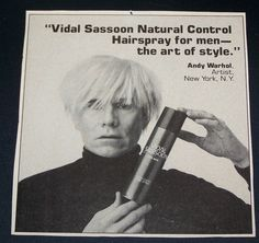 It might be because this is from before we were born, but its weird that we've never seen this Warhol X Vidal Sassoon ad till now.