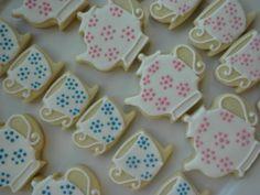 mini teapot and teacup cookies