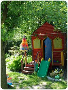Colourful kids play house