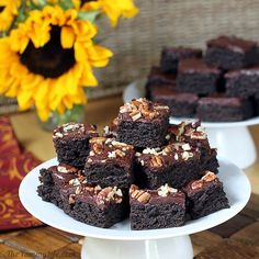 Dark Chocolate Zucchini Brownies  So moist, rich, and chocolaty that no one will guess they have veggies, 100% whole grain, and no eggs. Easy to adapt for vegan, gluten- and dairy-free.  Going to try splenda as well.