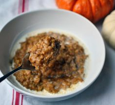 Baked Pumpkin Steel Cut Oatmeal