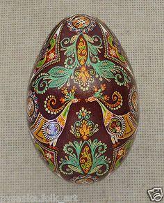 beautiful aqua and brown inspiration!  Ukraine Pysanka by Oleh K , GOOSE Easter egg / Hutsul, Pysanky, Ukrainian