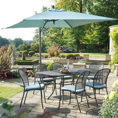 Kettler Caredo 6 Seat Rectangular Mesh Set - (KCGCARSET03) - Garden Furniture World