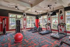 Our fully equipped fitness center houses cardio machines, weight lifting equipment, and plenty of space to move. Weight Lifting Equipment, Cardio Machines, Luxury Apartments, The Neighbourhood, Atlanta, Artisan, Relax, Houses, Space