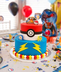Pokemon Birthday Cake                                                                                                                                                                                 More