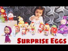 Surprise egg toys with Mavo - Masha - Spiderman - Pocoyo - Donald Duck -...