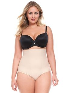 e03e731c529d1 ELOQUII Plus Size High Waisted Brief by TC Fine IntimatesChambray  Jumpsuit