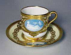 ANTIQUE MINTON PATE-SUR-PATE GOLD CUP MINT! | eBay