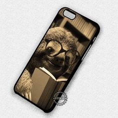 Cute Sloth Reading - iPhone 7 6S 5S SE 4S Cases & Covers