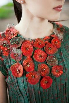 a fabulous blouse, love both the color and the  texture and decor