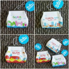 Guam inspired coin purses with fresh and young prints available at JP Store in Tumon, Guam.