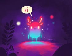 """or """"mystic apparition"""" aka Japanese folk creatures and ghosts, or supernatural beings in general. OR just an opportunity to use crazy colours :D :D :D Elephant Illustration, Cute Illustration, Character Illustration, Digital Illustration, Character Art, Character Design, Posca Art, Creature Concept, Landscape Illustration"""