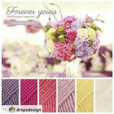 "DROPS Cotton Merino 23, 14, 13, 05, 17 and 01  #DROPSfan #knitting #crochet #ValentinesDay #Valentine #bemyvalentine """