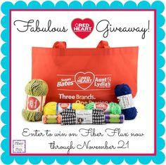 Fiber Flux...Adventures in Stitching: Enter to Win the Fabulous Red Heart Yarn Giveaway! Ends November 21!