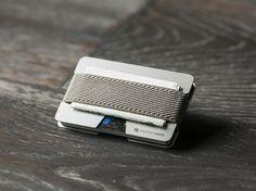 Metal wallet, credit card wallet, men's and women's wallet, aluminum slim…